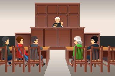 Courtroom Scene Illustration