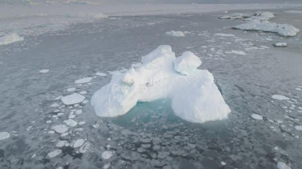 antarktischer Gletscher Eisberg Antenne vergrößern Ansicht