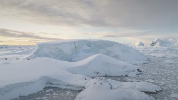 Antarktis Schnee Bergblick Luftbild Drohne