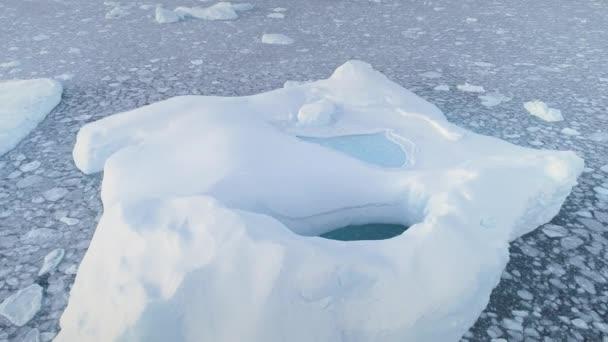 Tající ledovce fond neomalený ledové vzdušný oddálením