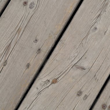 Outdoor image of wooden walkway in the park, Moscow, Russia.