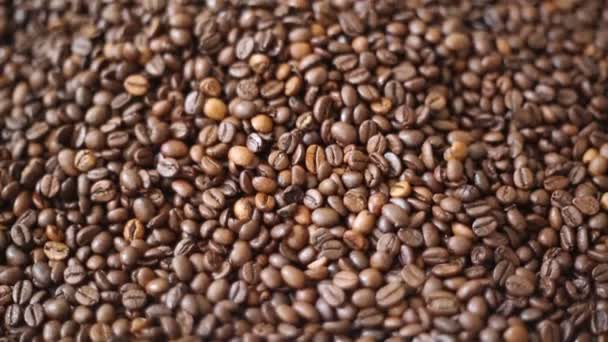 Brown roasted coffee beans is mix of arabica and robusta