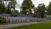 Vilnius,LITHUANIA-AUGUST 22, 2017:Old Rasos Cemetary situated in Vilnius with military graves in front, Vilnius, Lithuania, Europe