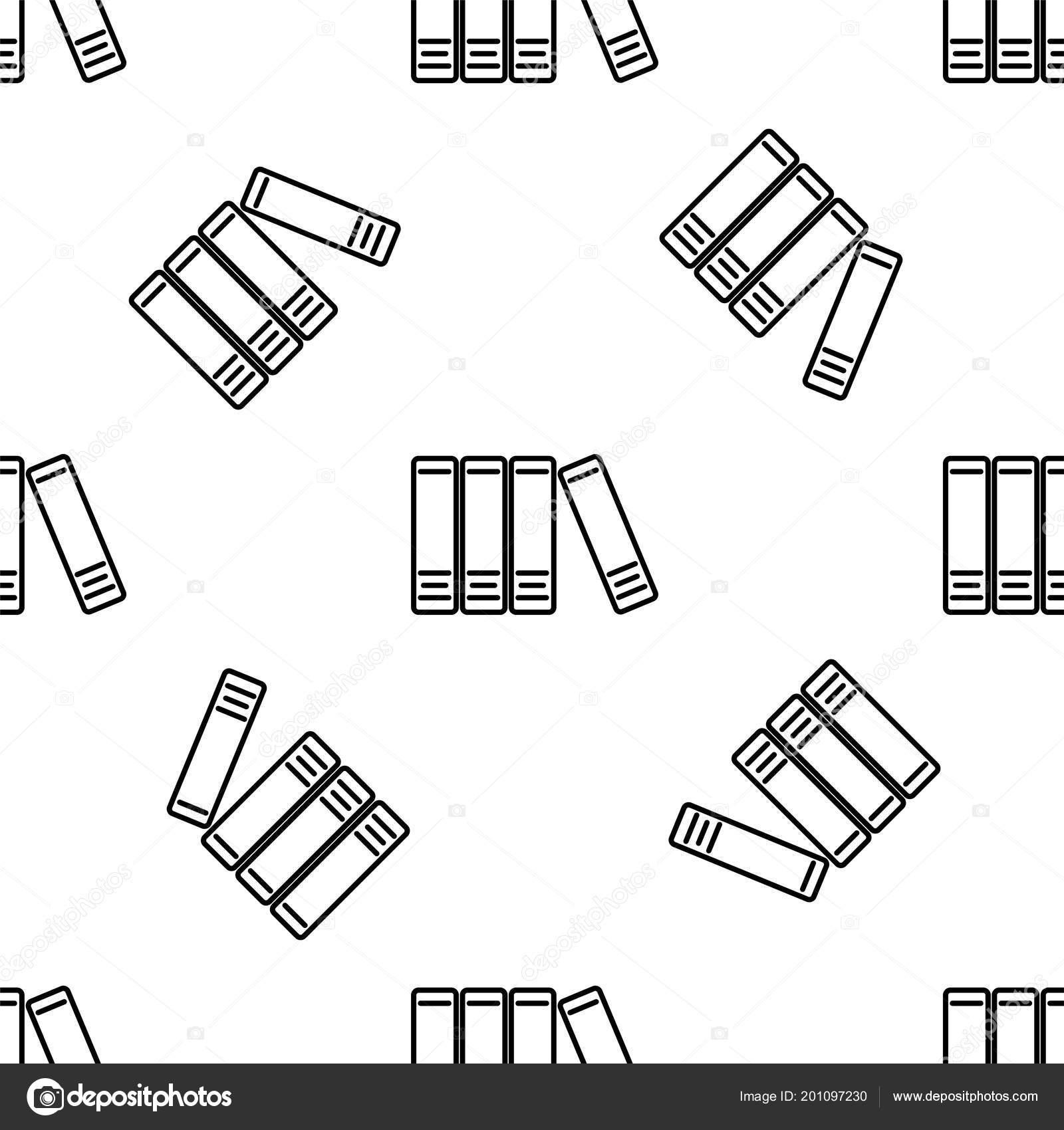 Carpetas de oficina con papeles y documentos de la línea de patrones ...