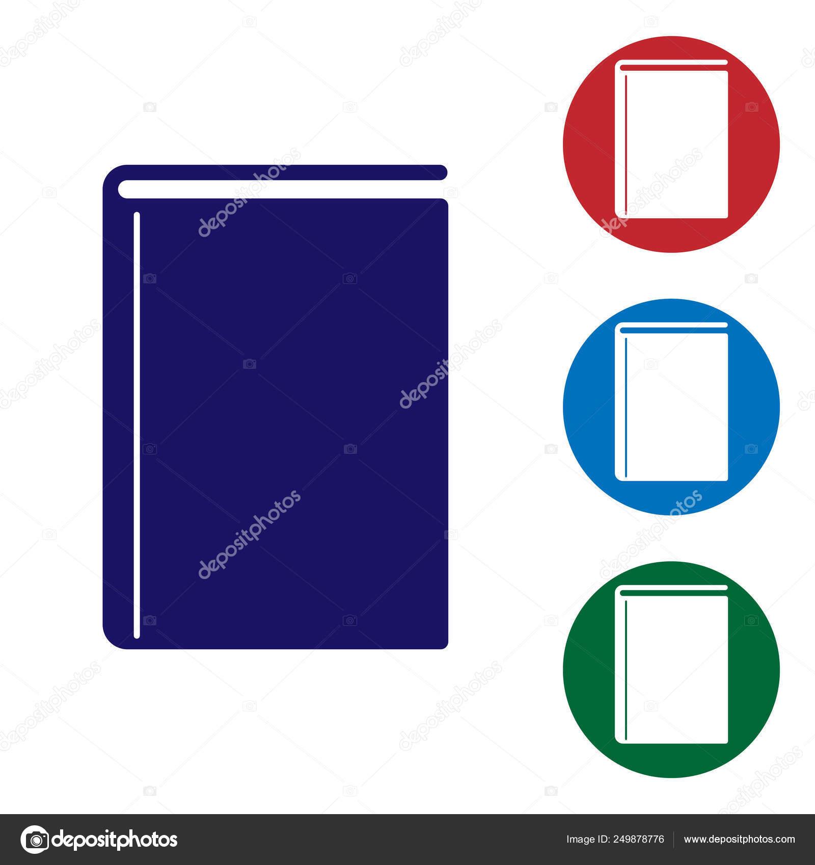 Livre Bleu Icone Isole Sur Fond Blanc Icone De Couleur