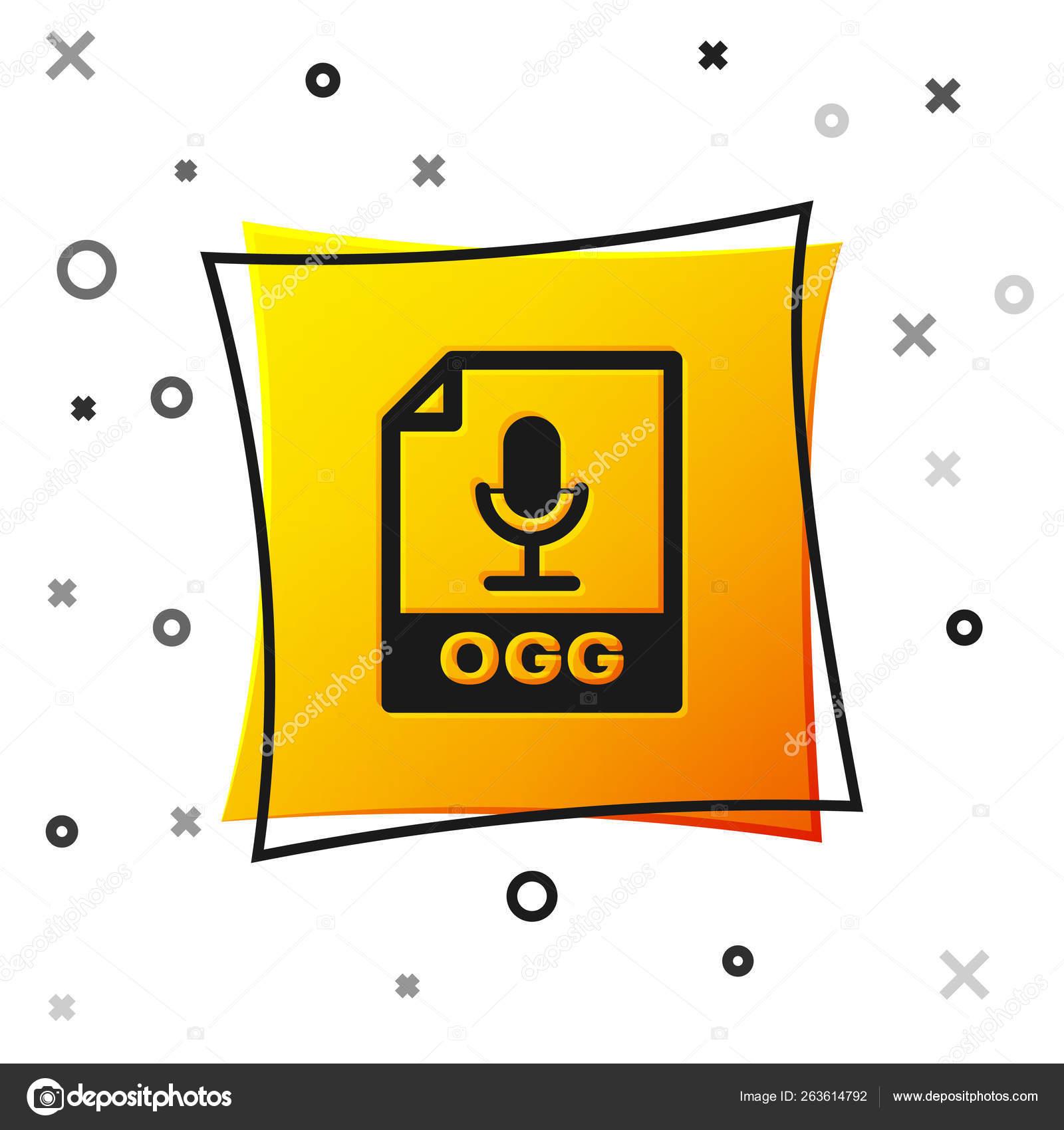 Black OGG file document icon  Download ogg button icon