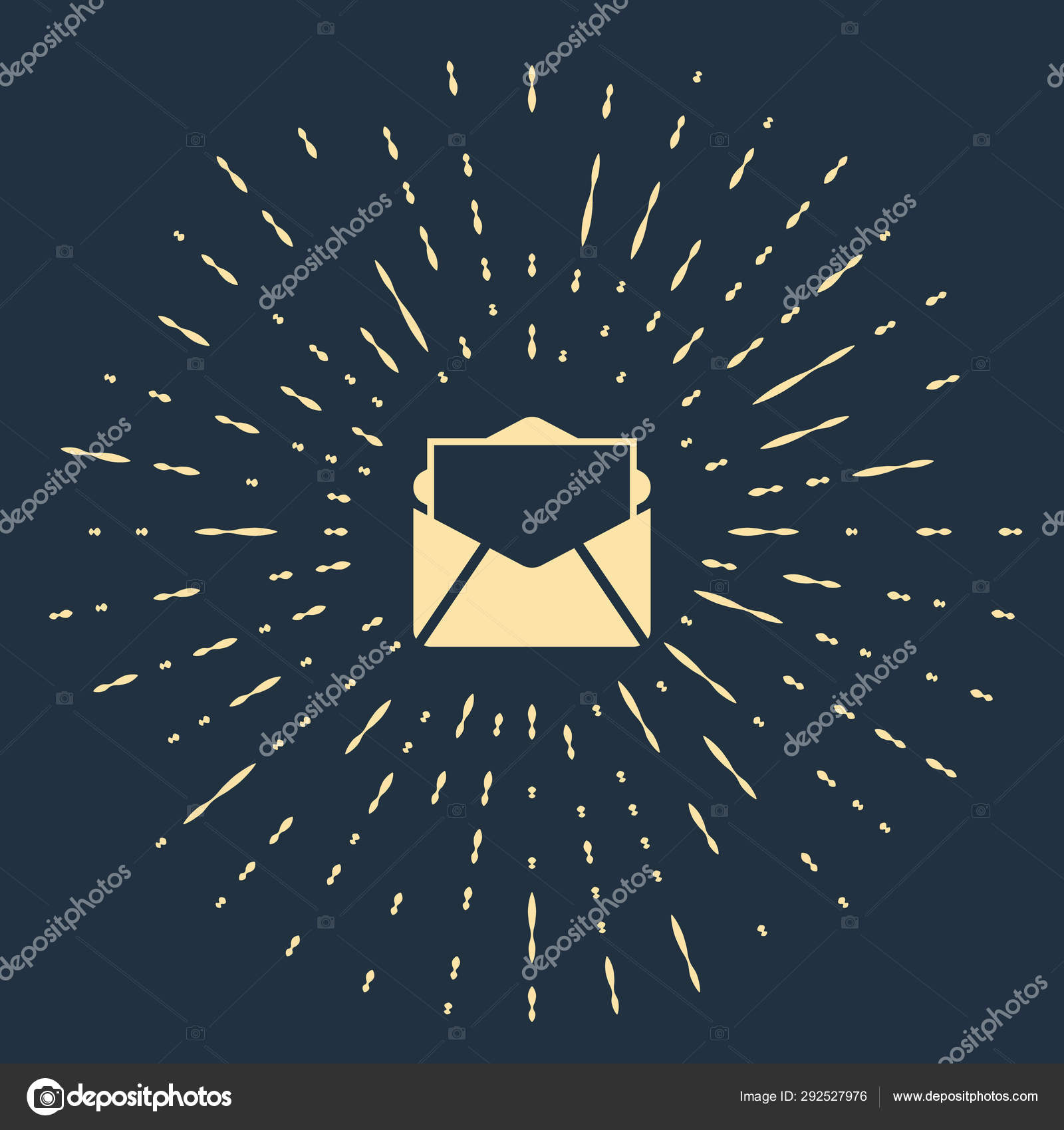 Beige Mail And E Mail Icon Isolated On Dark Blue Background Envelope Symbol E Mail Email Message Sign Abstract Circle Random Dots Vector Illustration Stock Vector C Vectorvalera Gmail Com 292527976