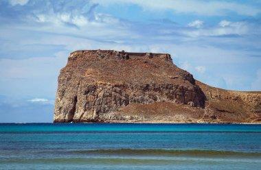 Imeri Gramvousa Island near island of Crete, Greece - view from Balos beach