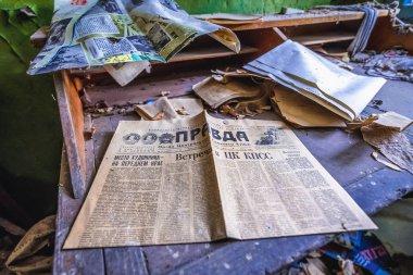 Old newspaper in Chernobyl zone