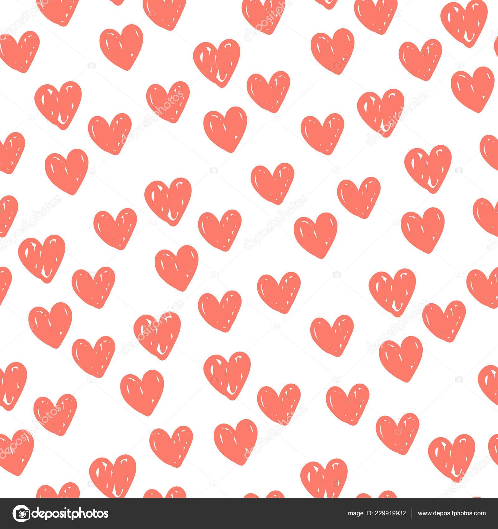 fd6329649af192 Corações Dos Namorados Romântico Padrão Ilustração Vetor Padrão Sem ...