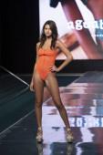 A modell sétál a kifutópályán Agua Bendita Fürdőruha Nyári kollekció 2021 divatbemutató alatt Paraiso Úszás Hét 2020 Miami Beach, FL a SLS Hotel South Beach augusztus 21, 2020