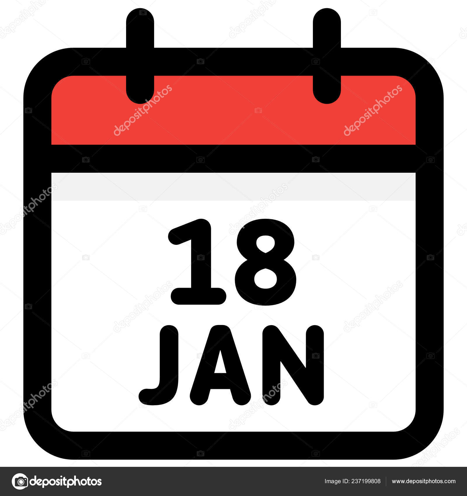 Calendario Vectores.Enero Calendario Icono Vector Ilustracion Vector Vector De