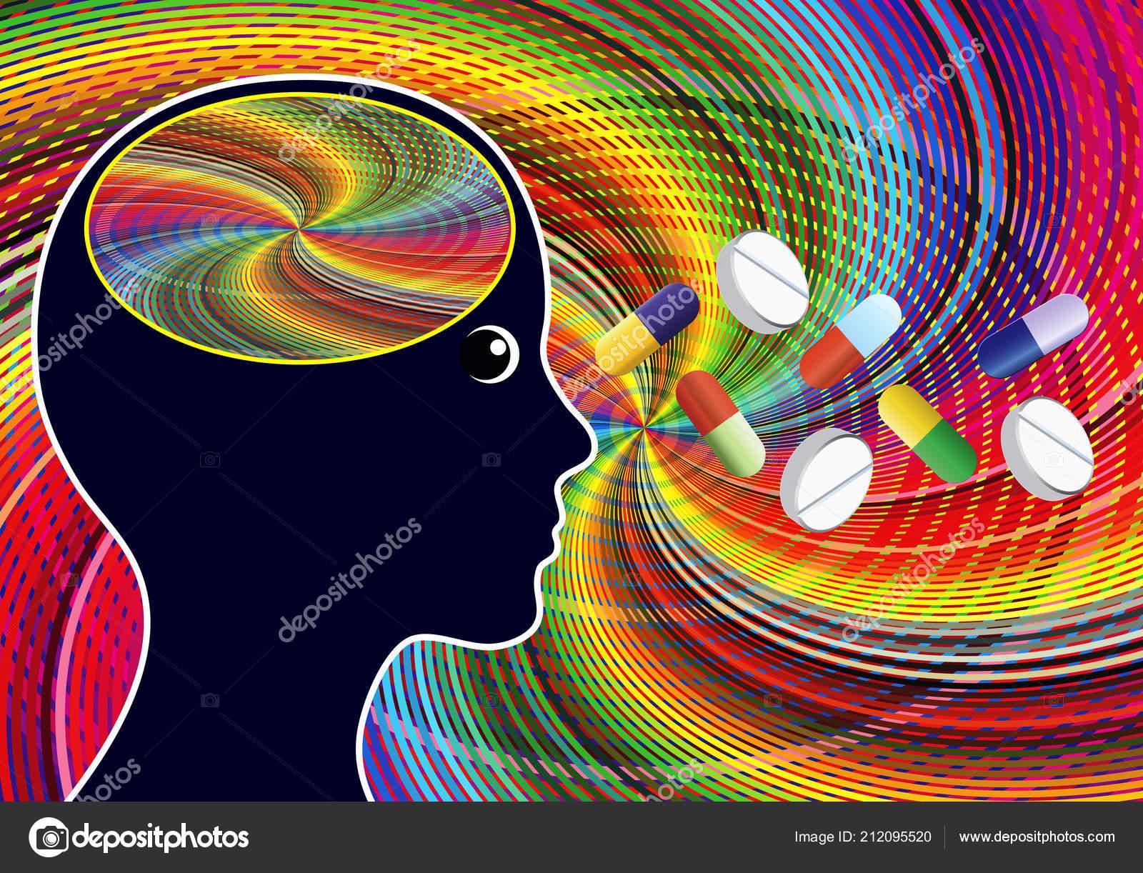 Stimulant Drugs Amphetamines Euphoric Feeling Taking Psychoactive
