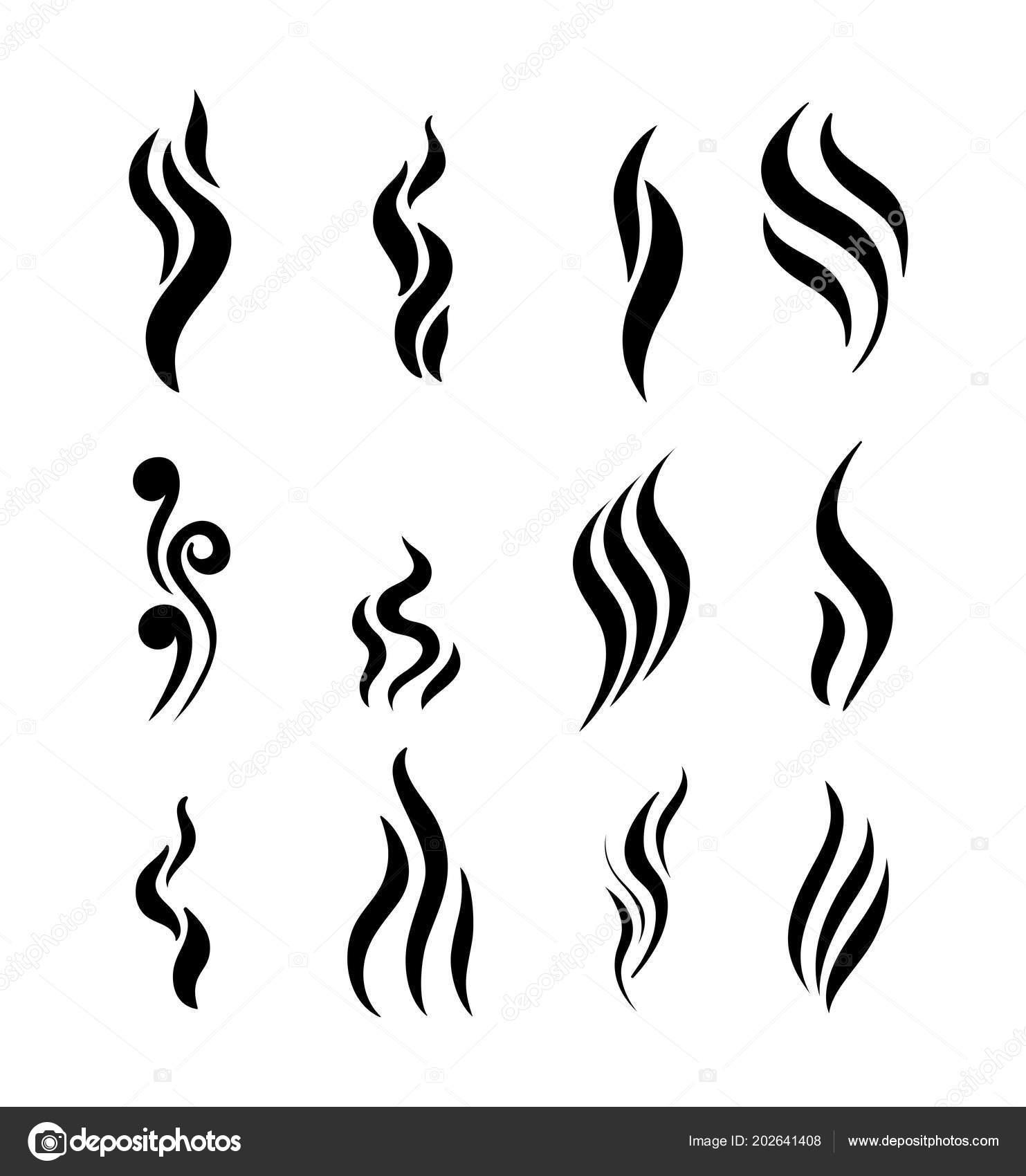 set aroma icon smoke vector illustration flat design isolated white rh depositphotos com smoke factory reset smoke dectors in the loft