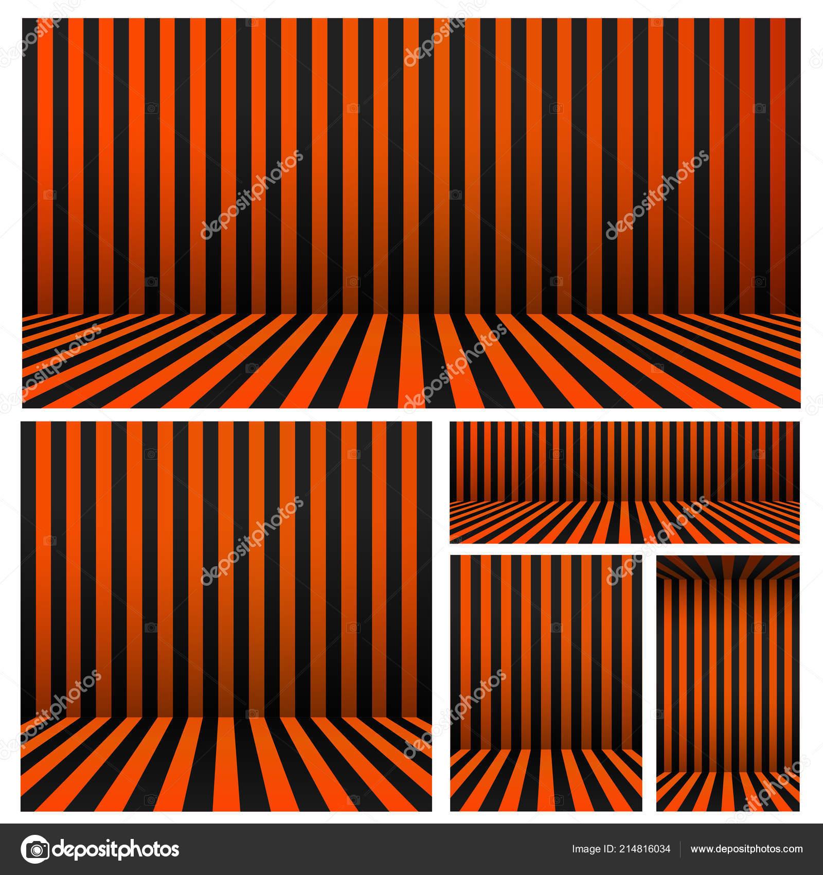 Jeu Fond Halloween Rayures Chambre Orange Noir Pour Votre Design ...