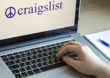 MOSCOW, RUSSIA - OCTOBER 11, 2018: Craigslist Logo on a Display of Laptop. Craigslist is an American Classified Advertisements Website.