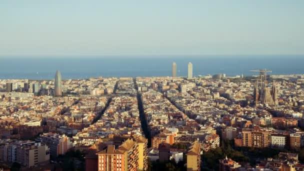 timelapse, západ slunce Barcelona, Španělsko
