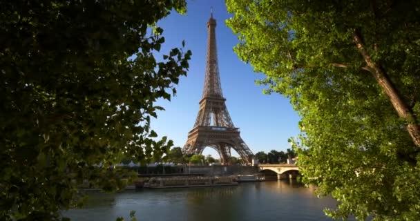 Seine in Paris with Eiffel tower, France