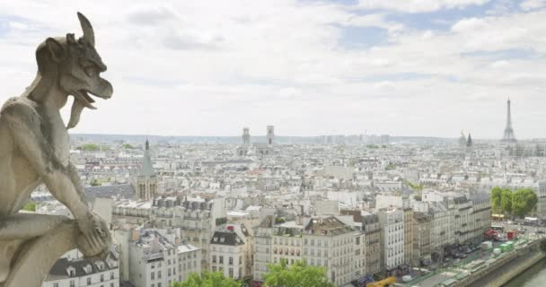 Paris cityscape with Eiffel Tower, view from Notre Dame
