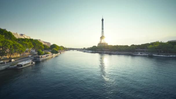 Eiffel tower and sunny morning, Paris, France