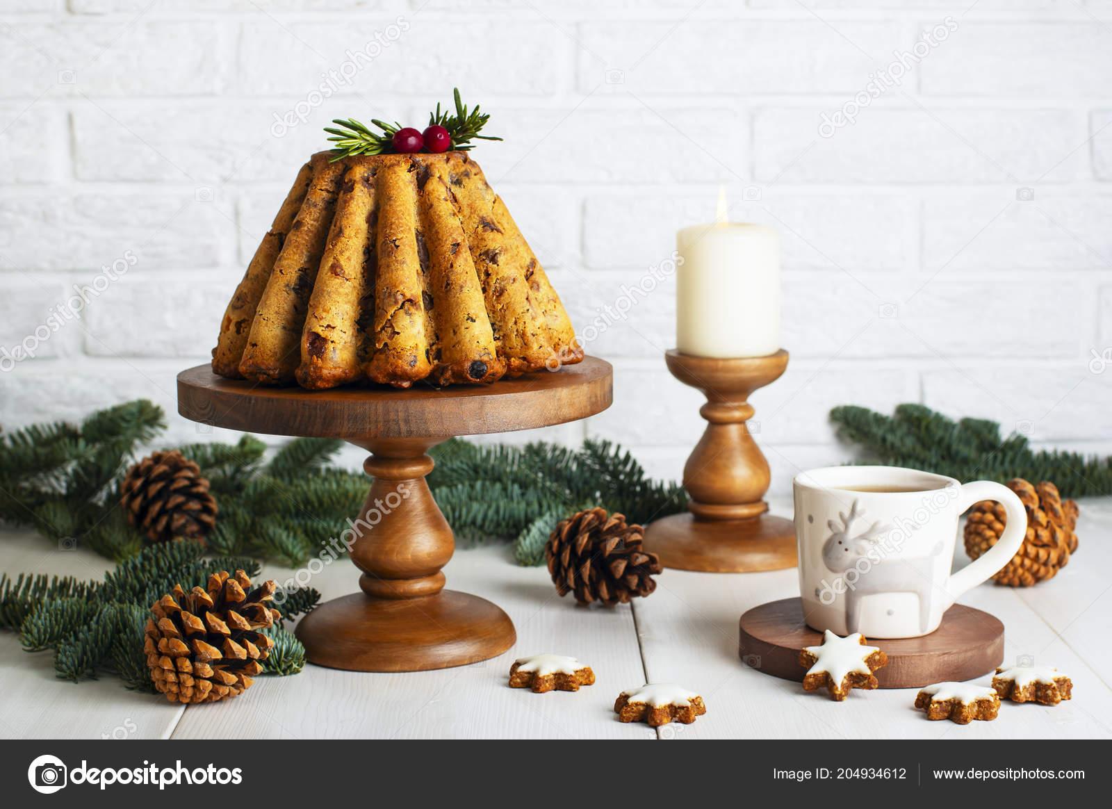 Christmas Fruit Cake Cookies Table Kitchen Stock Photo