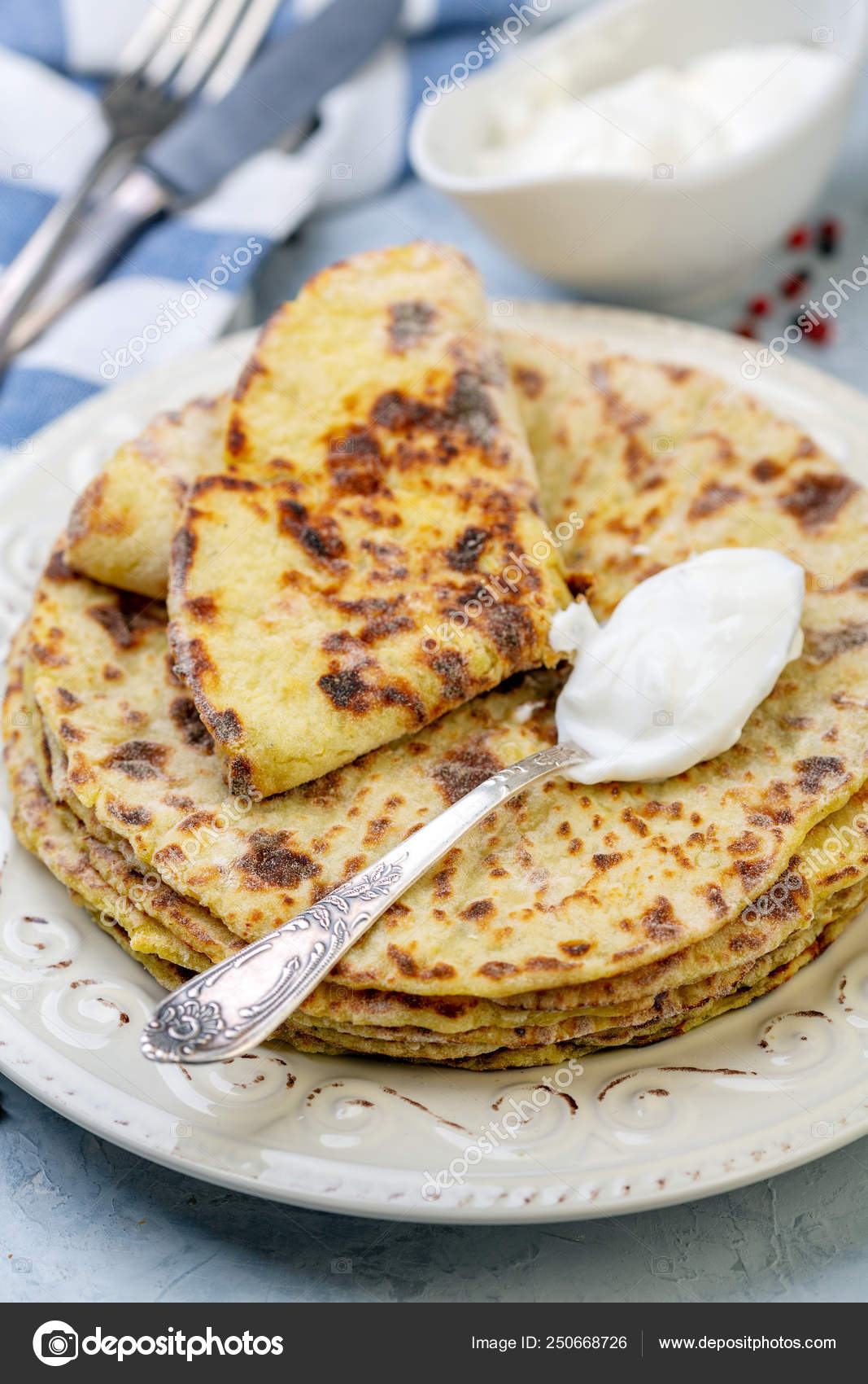 Potato Pancakes Lefse Norwegian Cuisine Stock Photo C Sriba3 250668726