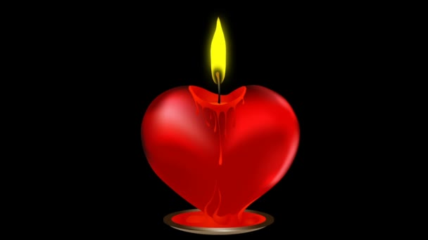 Vector valentine candle in heart shape. Element for design