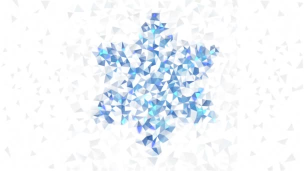 Pattern of geometric snowflake. Colorful mosaic banner triangle hipster background.