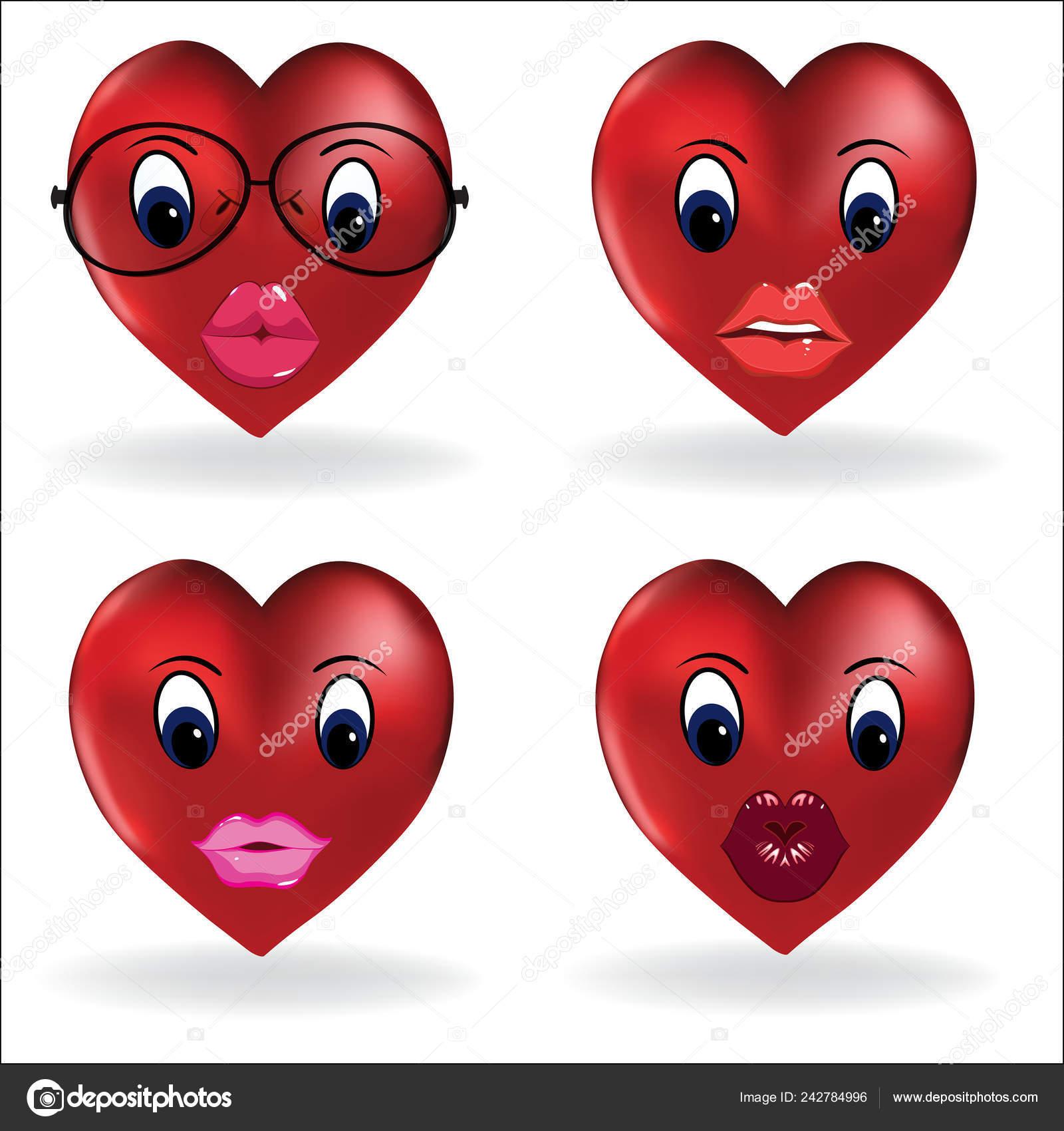 Smiley lips heart | Emoji Heart Smiley Lip Sexy Creator