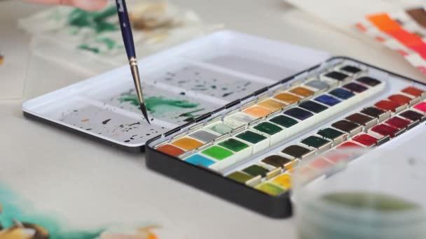 Zeichnung mit schöner Aquarell-Palette