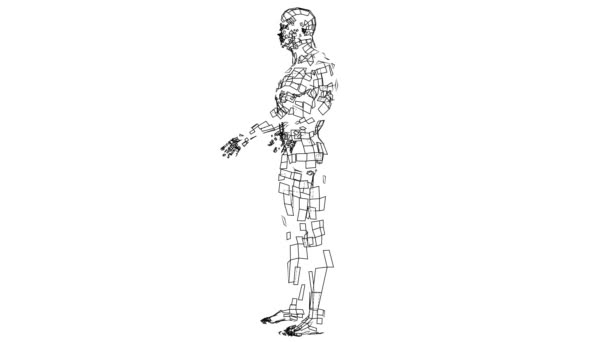 Digitální okruhy vytvořit tvar těla sportovce, digitální koncepce