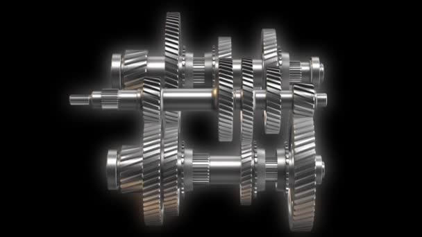 Rotující kovové ozubená kola, hřídele a ložiska
