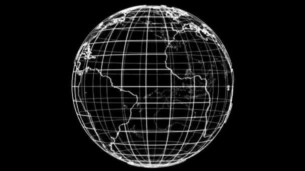 Körvonalazza a föld fogalmát. 3D illusztrációs videó