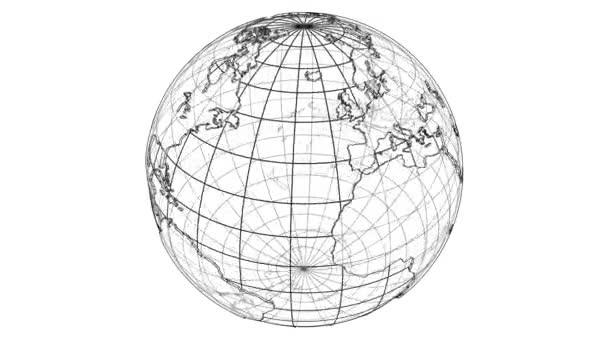 Outline Earth concept. 3D illustration video