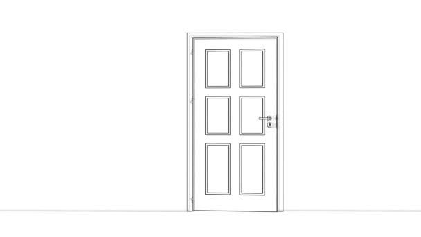 Nyitó drótváz ajtó vázlatrajza