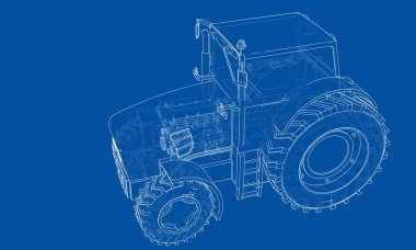 Farm Tractor Concept. Vector