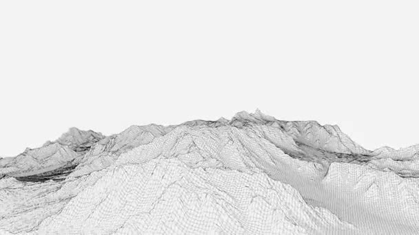 Video of the rotation of a wireframe landscape surface