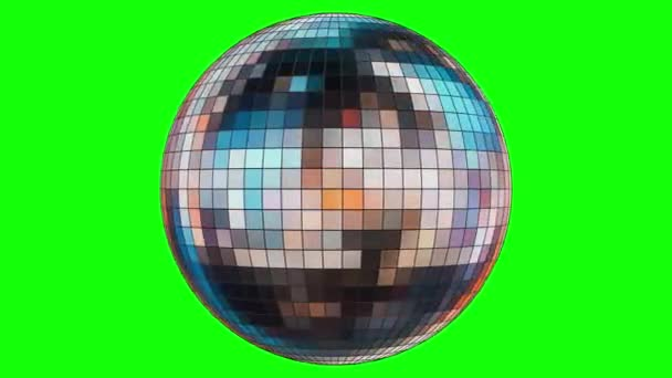 Animation of rotation of a mirror disco ball