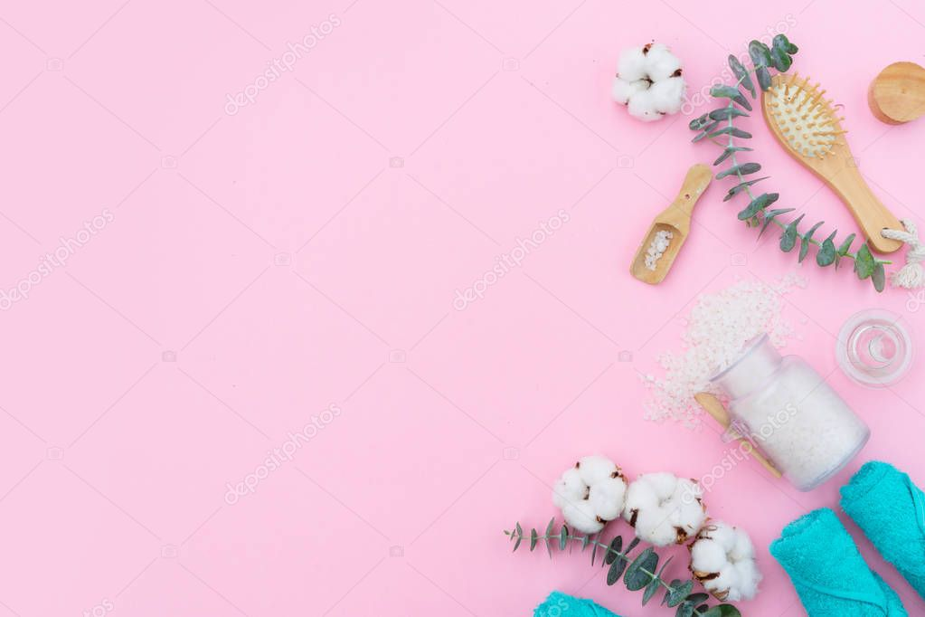 Beauty background with cotton buds