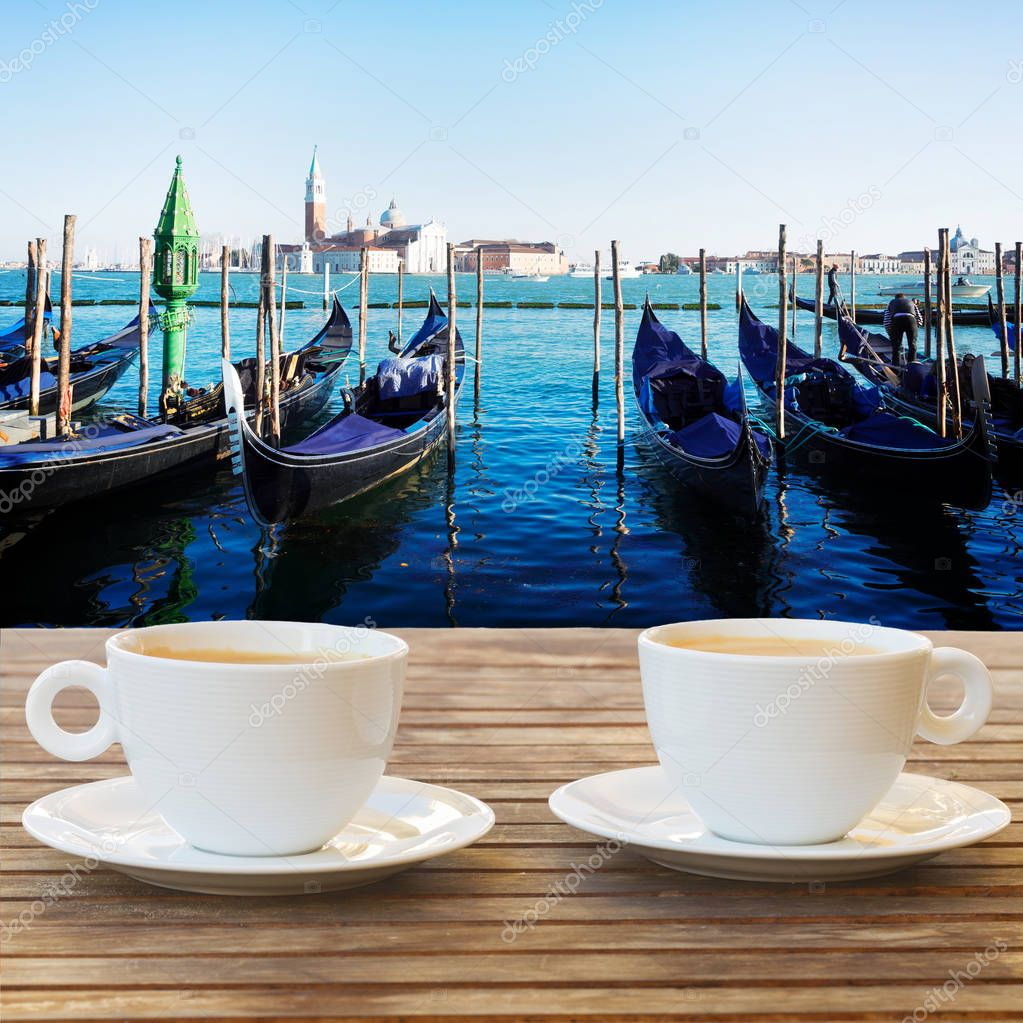 Cup of coffee in Venice