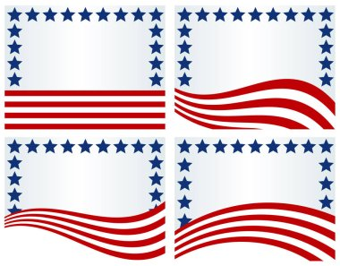 USA Flag inspired background-Backgrounds using elements of the USA flag; use for July 4th, Memorial Day, Veterans Day, Presidents Day, September 11th or for general or voting purposes
