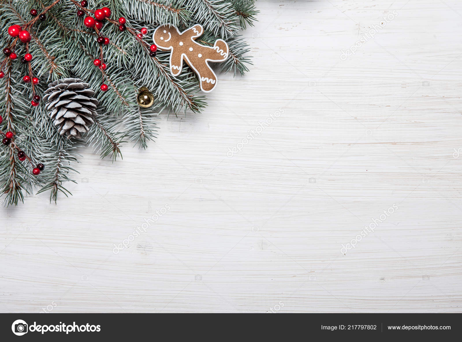 Christmas Wood Background.Christmas Card White Wooden Background With Snow Fir Tree