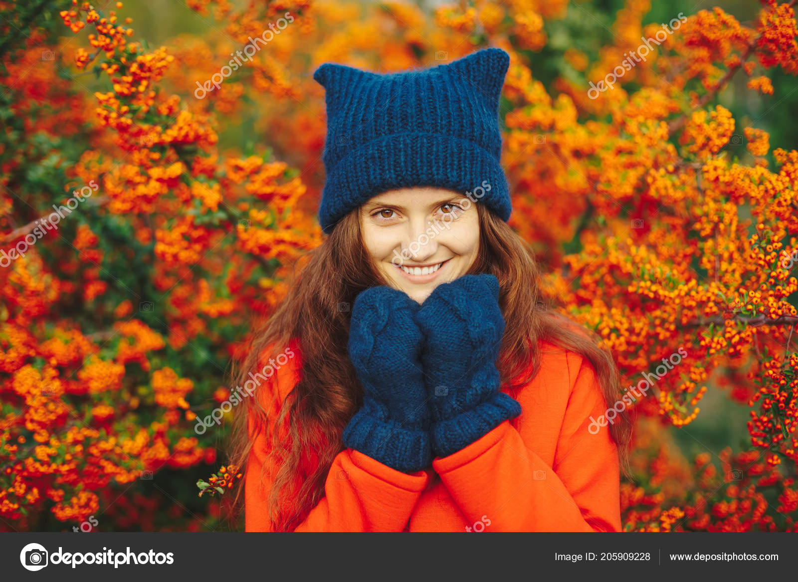 f8a311911e6 Outdoor close up portrait of young beautiful happy smiling hipster girl  posing on street