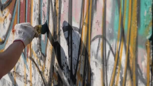 Umělecká malba zdí na ulici. Graffiti.