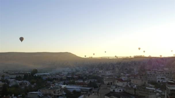 air balloons cappadocia at sunrise