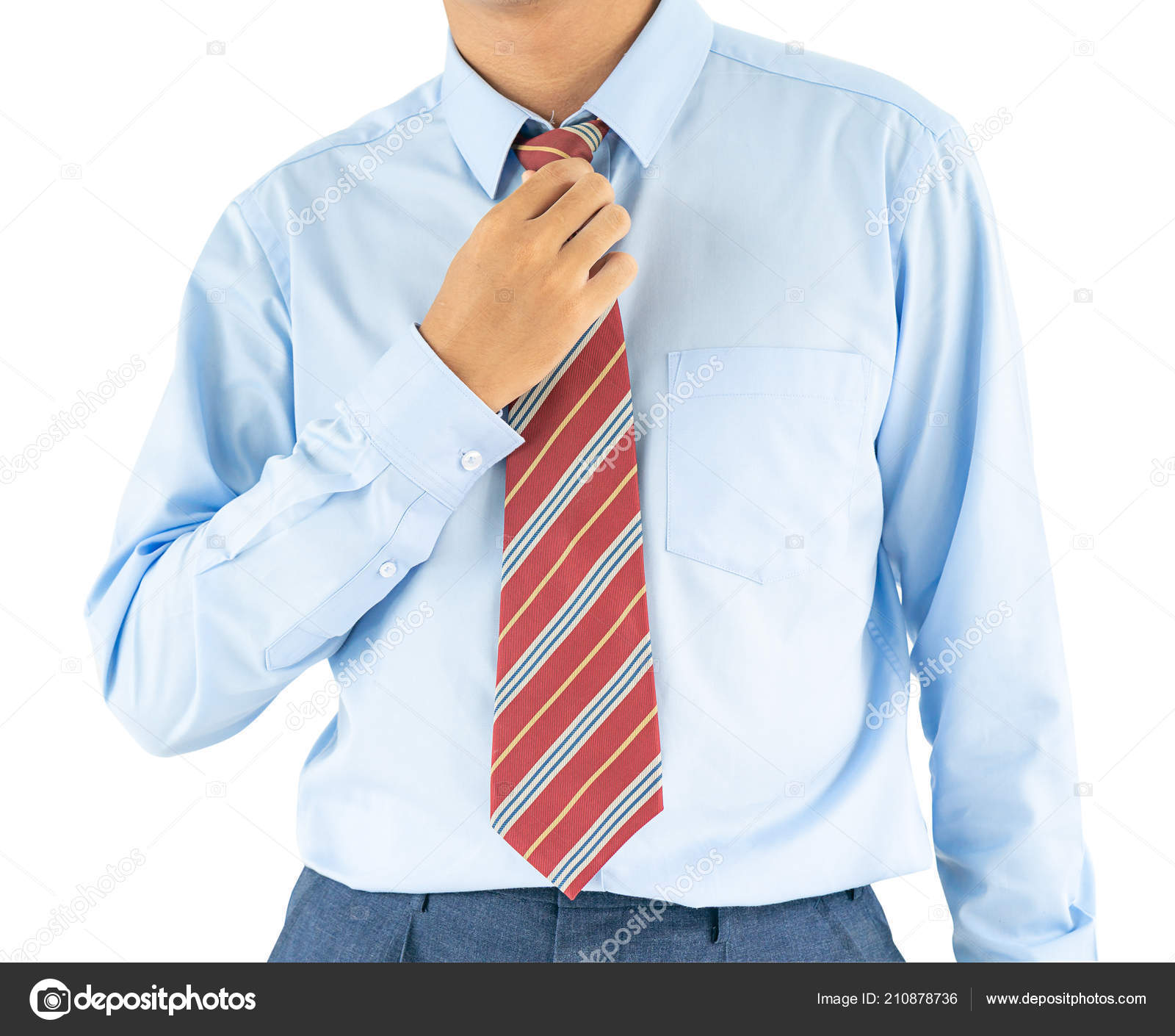 krawatte zu blauem hemd