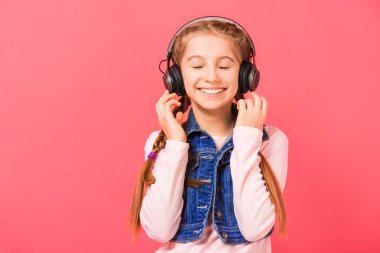 Young girl enjoying the music