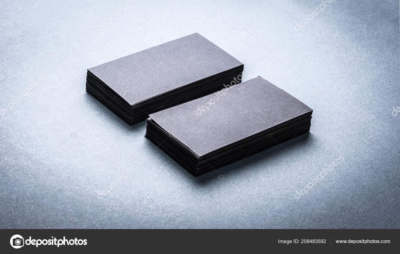 Stapel Von Schwarzen Leere Visitenkarten Stockfoto