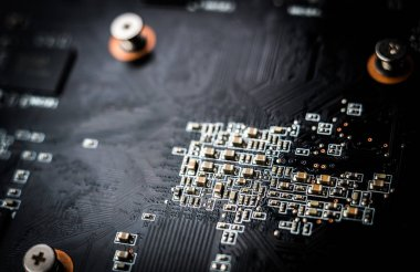 Computer, electronic circuit board background