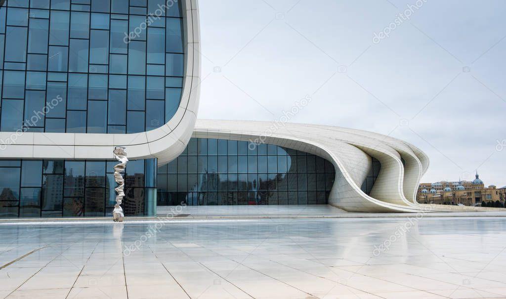 Modern Heydar Aliev Center in Baku, Azerbaijan